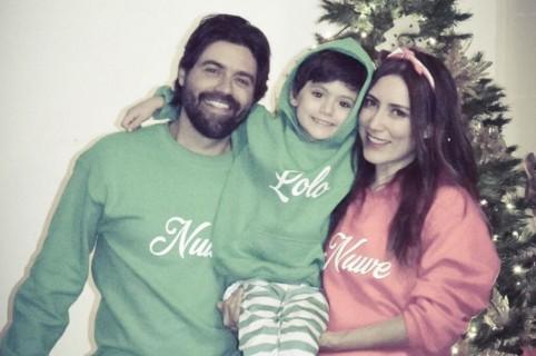 La actriz Ana María Medina junto a su esposo Andrés Vargas y su hijo Lorenzo.