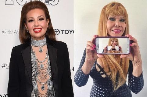 Thalia y 'la Tigresa del Oriente', cantantes.