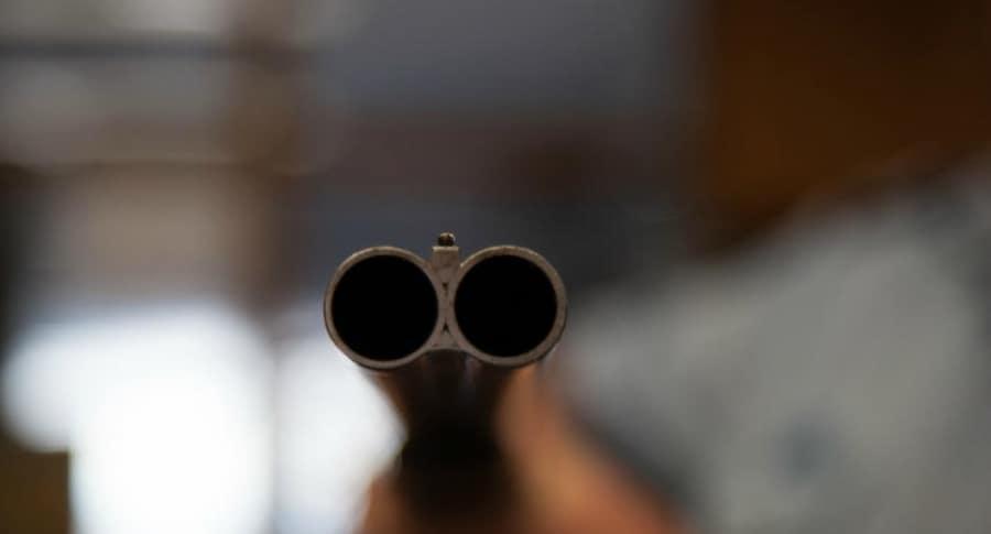 Disparo de escopeta.