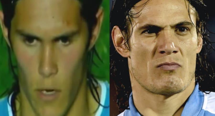 Ruben Betancourt y Édinson Cavani
