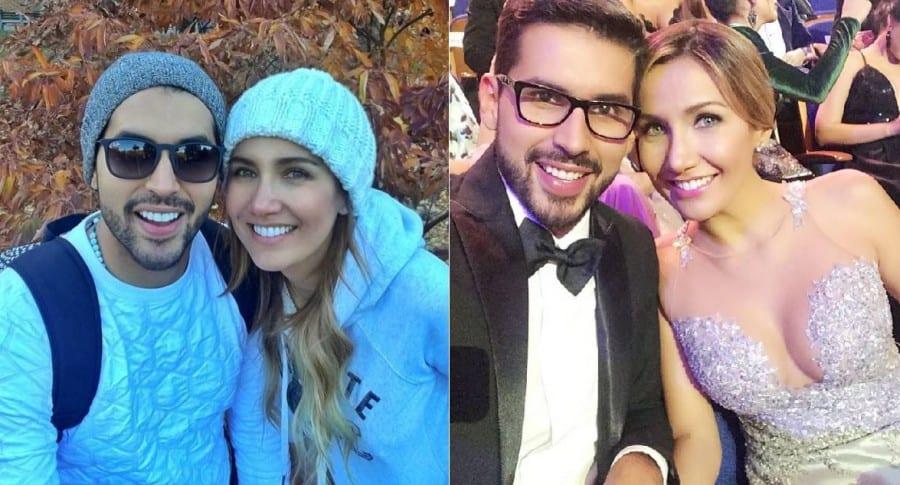 Brian Moreno, actor, y su novia Adriana Betancur, presentadora.