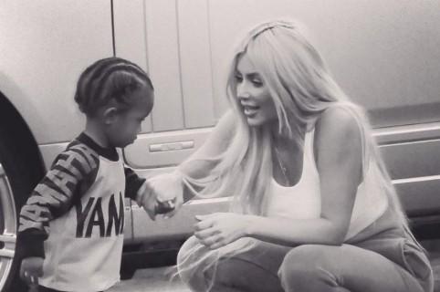 Saint West y Kim Kardashian