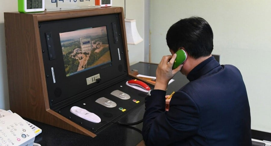 Corea del Norte acepta reabrir la línea de comunicación con Corea del Sur