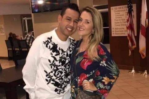 El cantante Martín Elías (Q.E.P.D.) y su esposa Dayana Jaimes.