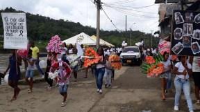 Marcha en Barbacoas por las dos niñas asesinadas