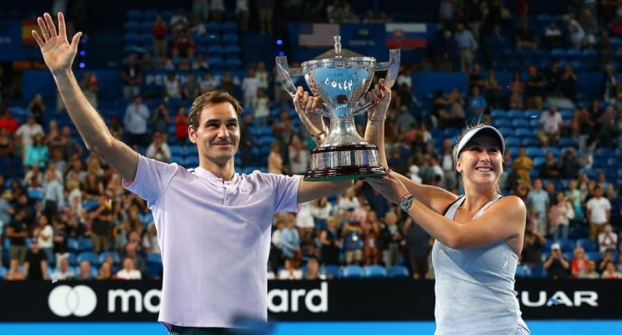 Roger Federer y Belinda Bencic