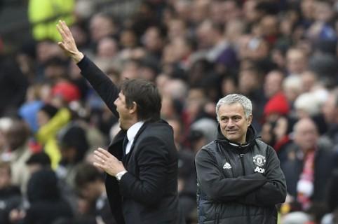 Mourinho  y Antonio Conte