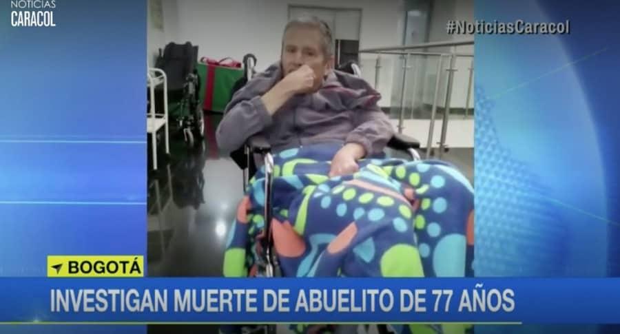 Abuelo Marcolino Niño, que murió por quemaduras aparentemente causadas en un hogar geriátrico en Bogotá. Pulzo.