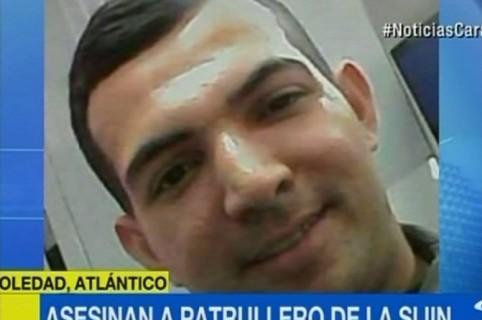 Kemel Jesús Cervantes Ocampo, patrullero asesinado en Soledad, Atlántico. Pulzo.