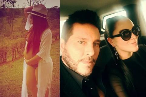 Marcelo Cezán, actor y presentador, con su esposa Michelle Gutty, cantante, bailarina y actriz.