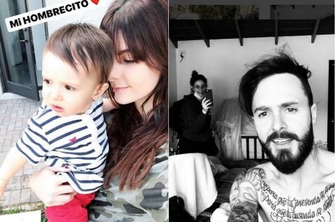 Carolina Cruz, presentadora, con su hijo Matías Palomeque; y 'Tatán' Mejía, motocrosista, junto a su esposa, la actriz 'Maleja' Restrepo.