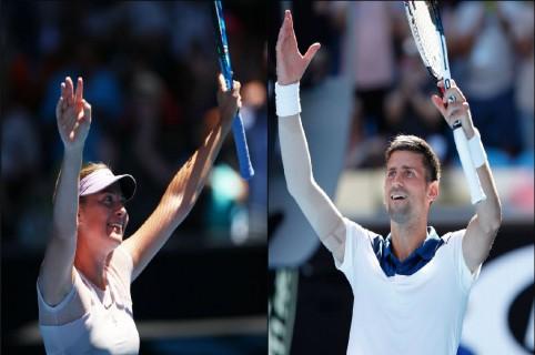 Maria Sharapova y Novak Djokovic