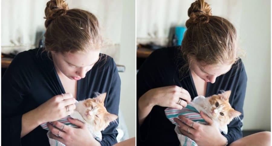 Sesión de fotos con gato.