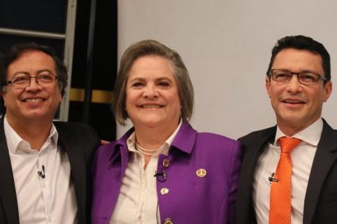 Gustavo Petro, Clara López y Carlos Caicedo