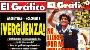 Dos portadas de El Gráfico