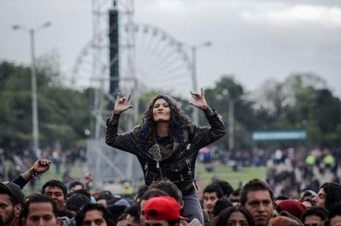 The closure of the XXI Rock al Parque Festival