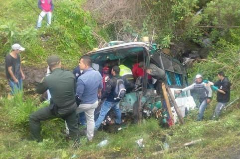 Accidente de bus, en Antioquia