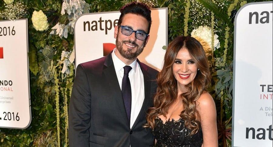 Miguel Varoni y su esposa Catherine Siachoque, actores.