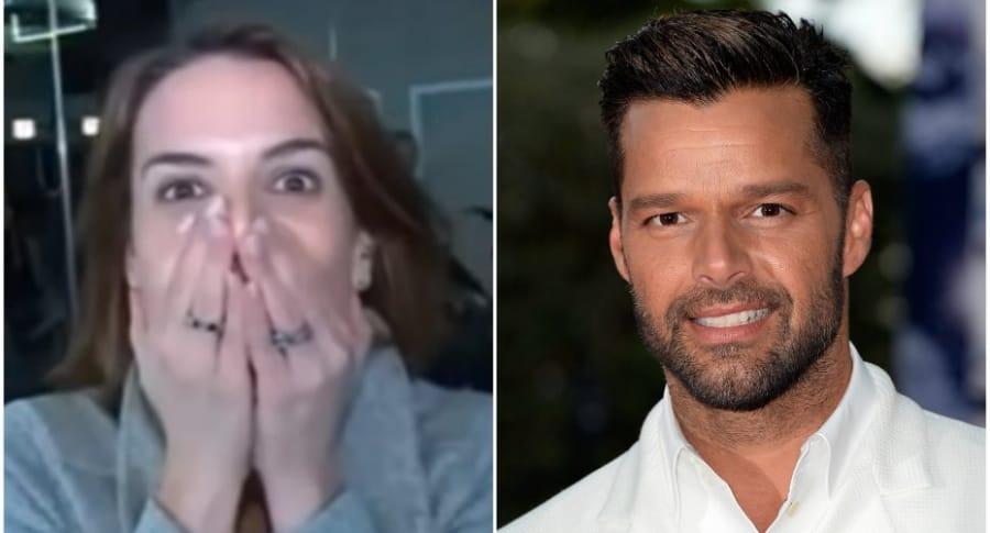 Reportera se emociona luego de entrevistar con Ricky Martin.