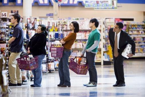 Fila de supermercado