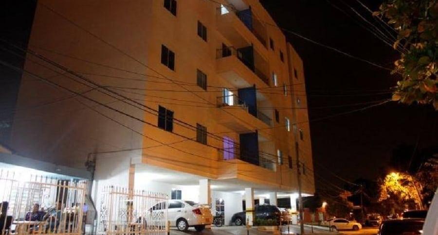 Uno de los edificios afectados