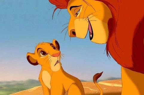Simba y Mufasa, de 'El rey león'. Pulzo.