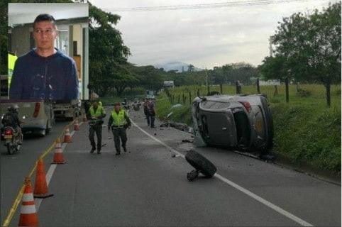 Accidente en que murió un policía