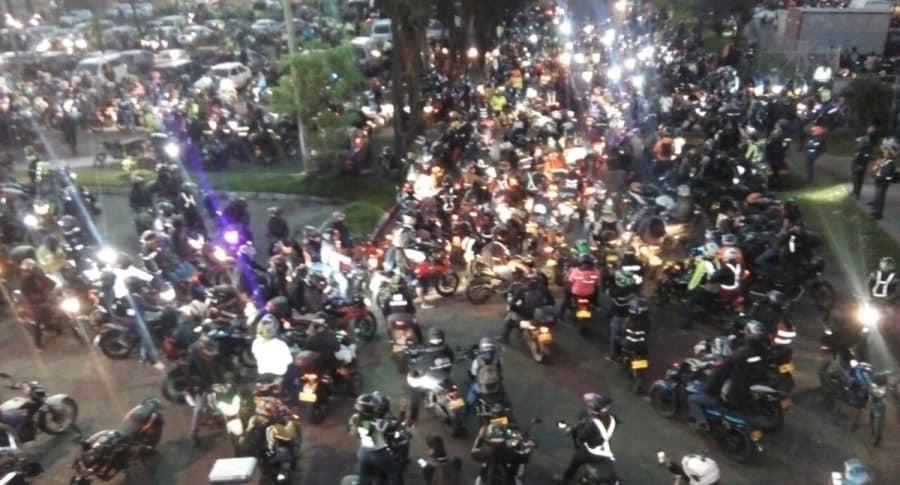 Protesta de motocislistas