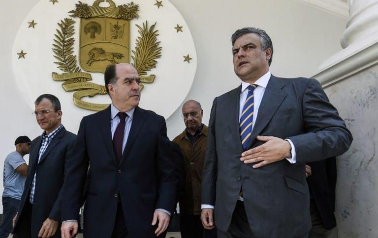 Julio Borges y el embajador de España en Venezuela, Jesus Silva