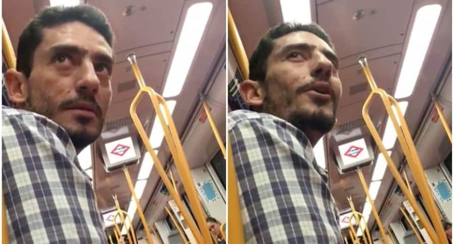 Acosador en metro de Madrid.