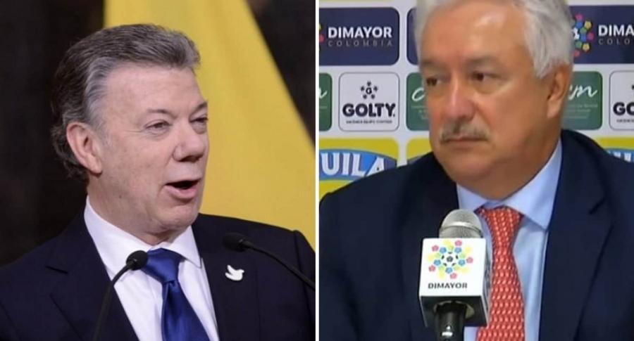 Presidente Santos y Jorge Perdomo
