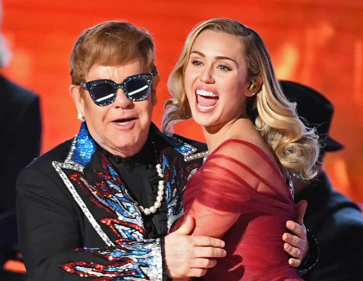 Elton John y Miley Cyrus