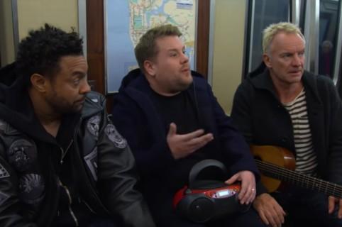 Shaggy, James Corden y Sting. Pulzo.