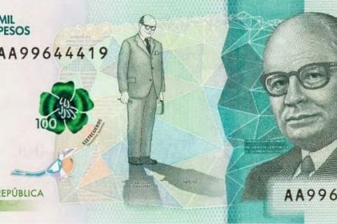 Billete de 100 mil pesos
