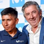 Nairo Quintana y Eusebio Unzué