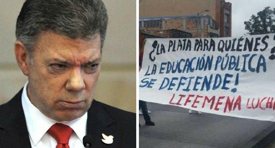 Juan Manuel Santos y el paro de maestros