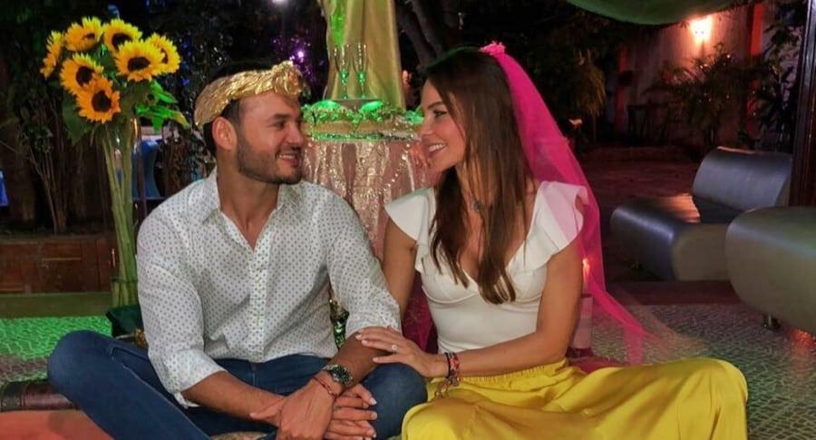 Paula Andrea Betancur, exreina, y su pareja Luis Miguel Zabaleta, dermatólogo.