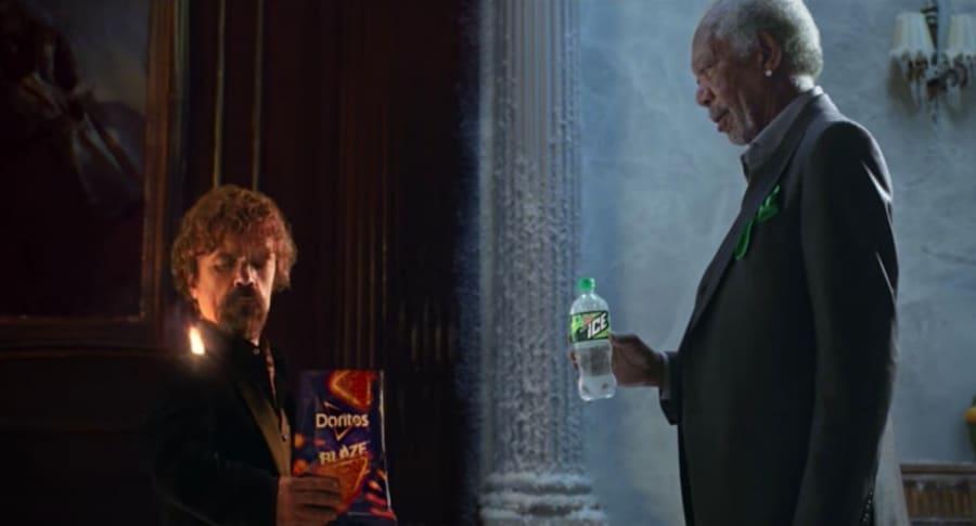 Peter Dinklage y Morgan Freeman en comercial para el Super Bowl. Pulzo.
