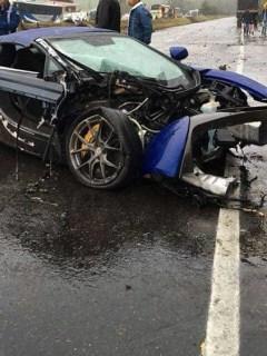 Foto del McLaren 650 estrellado