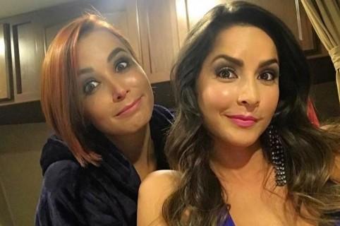Majida Issa y Carmen Villalobos, actrices.