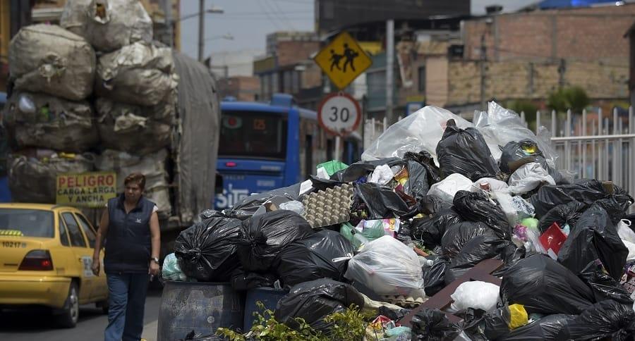 Basuras en calles de Bogotá