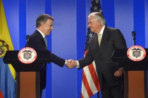 Juan Manuel Santos y Rex Tillerson