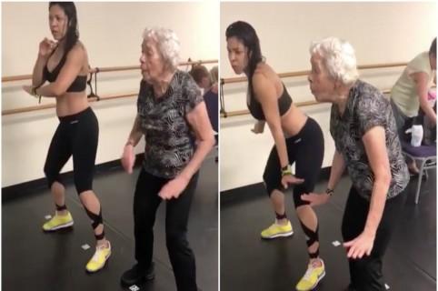 Abuela y su profesora de zumba bailan 'Dura', de Daddy Yankee. Pulzo.