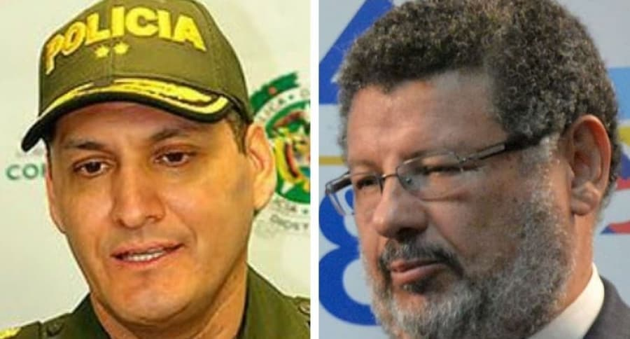 General Hoover Penilla, comandante de la Policía de Bogotá, y abogado Jaime Granados, representante de familia Cabrera