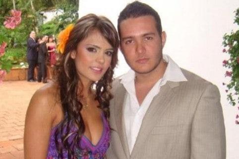Vaneza Peláez, presentadora, y Sebastián Murillo Echeverry.