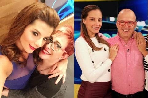 Carolina Cruz, Yaneth Waldman, Laura Acuña y Jota Mario Valencia, presentadores.