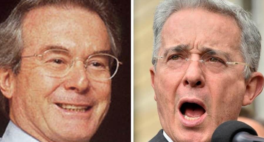Pedro Juan Moreno y el senador Álvaro Uribe Vélez