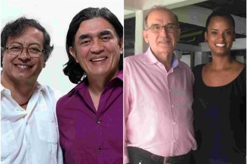 Gustavo Bolivar, Gustavo Petro, Vanessa Mendoza y Humberto de la Calle