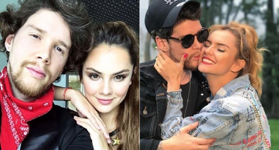 David Escobar, 'DIM' de Piso 21, y Danielle Arciniégas, actriz.