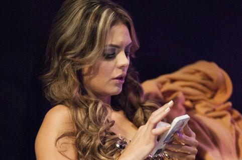 Vaneza Peláez, presentadora.
